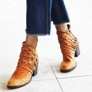 free people // carrera booties heeled ankle boots